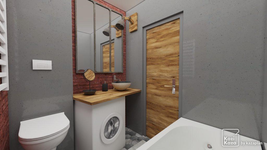 Image réaliste salle de bain moderne