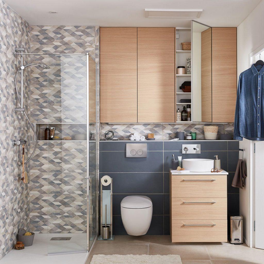 Douche italienne avec deflecteur mobile bricoman