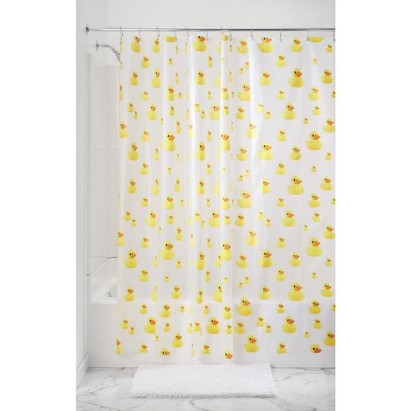 rideau de douche canards jaunes