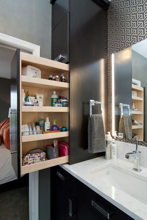 rangements de salle de bain