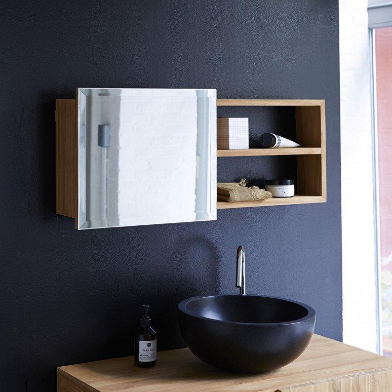miroir de salle de bain avec rangement