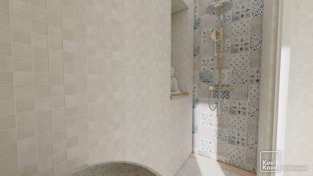 Image 3D réaliste de douche italienne