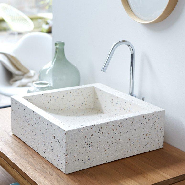 vasque contemporaine terrazzo pégase confetti Tikamoon