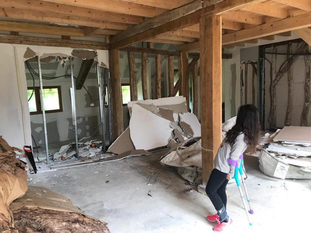Rénovation maison casser cloisons pour agrandir