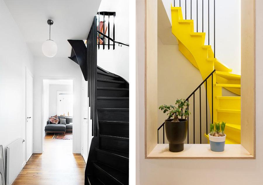 peinture escalier entier idée déco