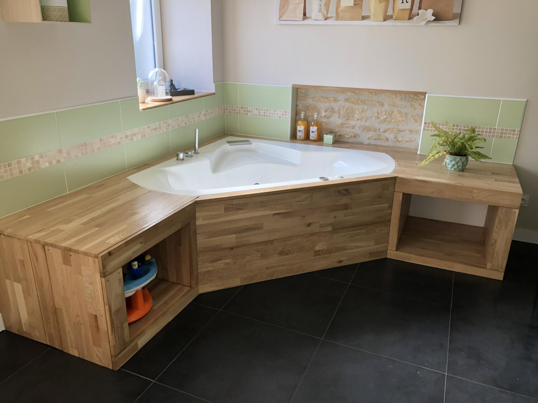 Meuble Avec Planche De Coffrage rangement salle de bain : nos 25 astuces ! - kozikaza