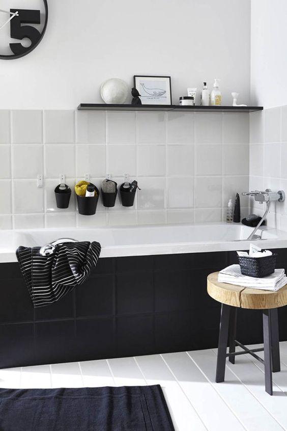 salle-de-bain-noire-et-blanche