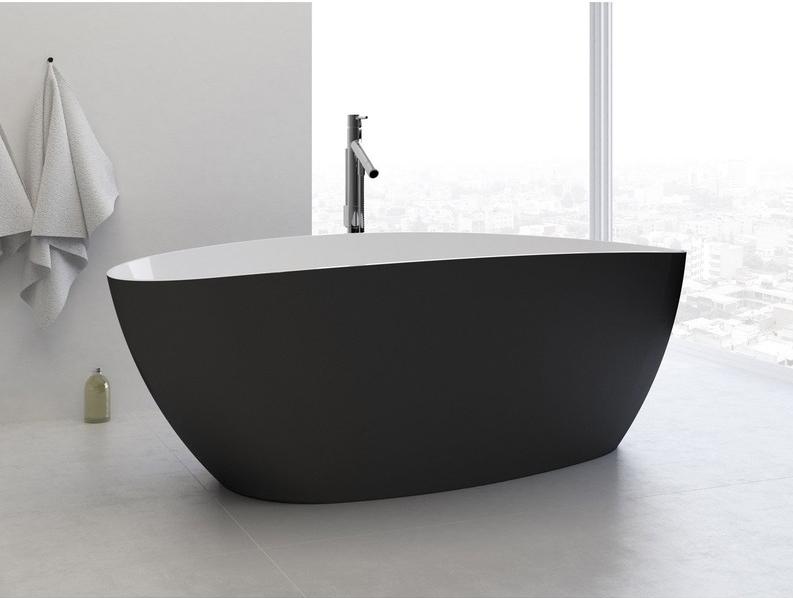 baignoire-ilot-ovale-blanc-et-noir