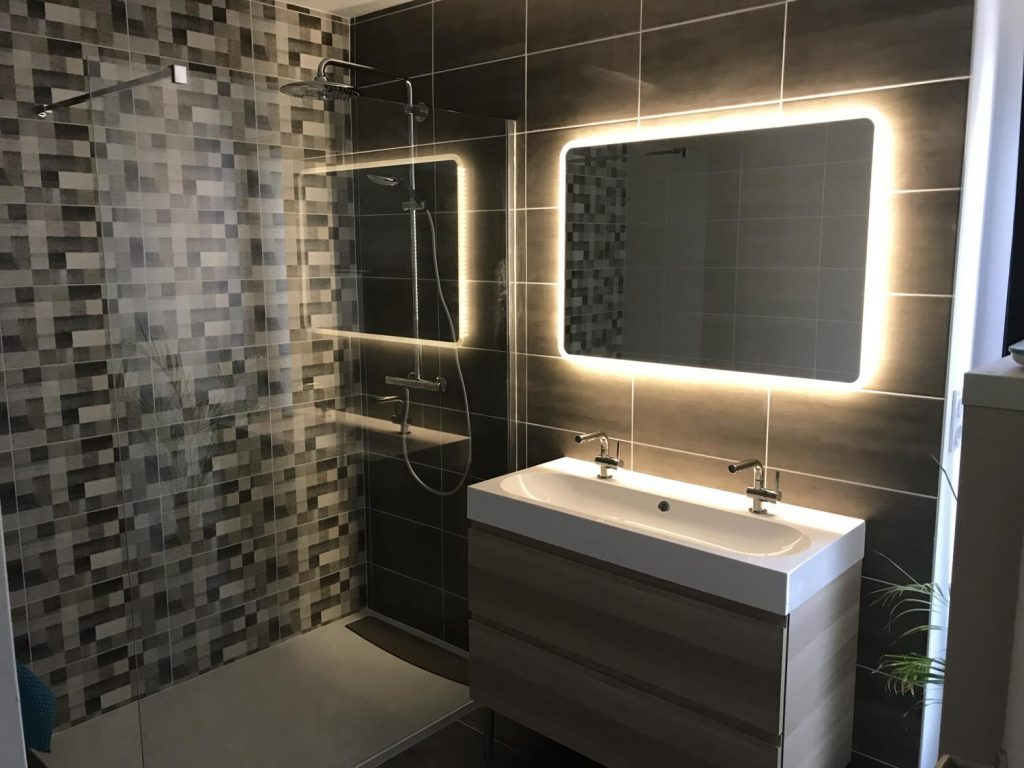 Carrelage Blanc Joint Noir carrelage de salle de bain : 30 idées pour vous inspirer