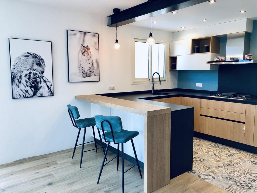 Couleur Mur Cuisine Blanche Et Grise cuisine blanche et bois : 15 idées pour vous inspirer