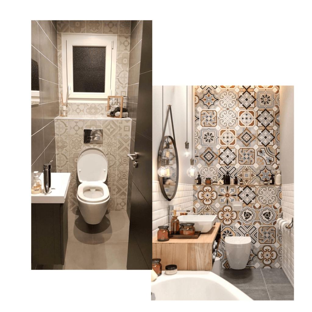 Carreau De Ciment Toilette décorer ses wc : 25 idées pour vous inspirer ! - kozikaza