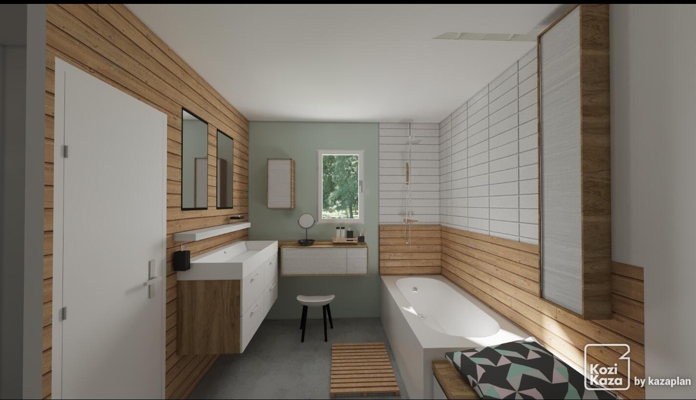Salle De Bain Revetement le bois dans la salle de bain : 30 idées pour vous inspirer