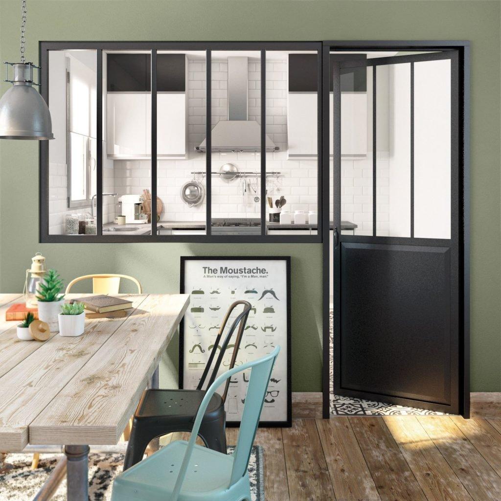 Porte Separation Salon Cuisine la verrière dans la cuisine : 20 idées pour vous inspirer