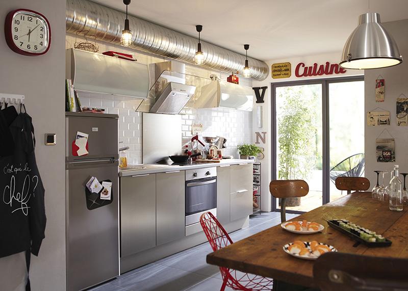 cuisine industrielle type atelier