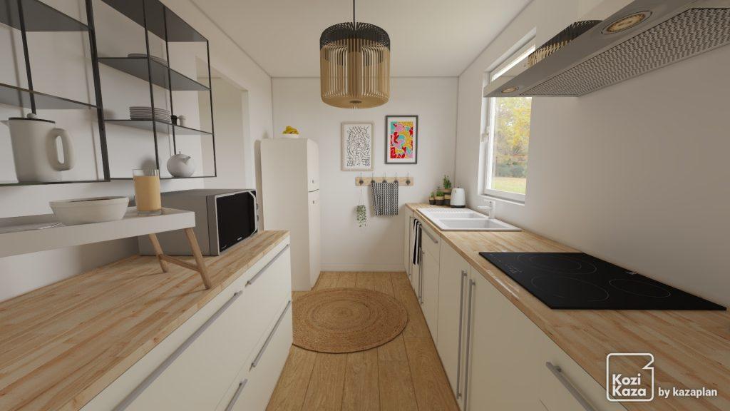 Rendu HD d'une cuisine scandinave