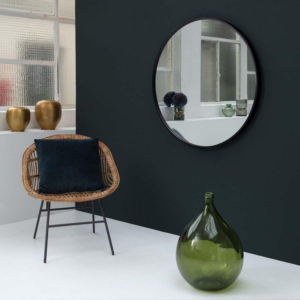 miroir-rond-en-metal-noir-mat
