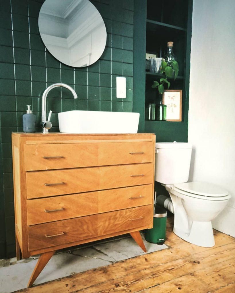 Salle de bain design vintage