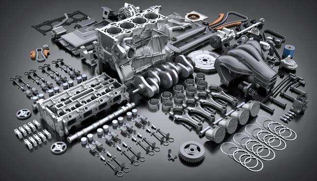 Motor de combustión interna y sus partes