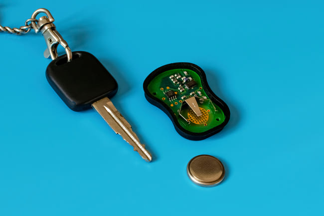 Battery inside a car alarm remote starts to die down
