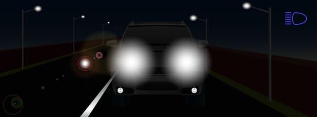 Full beam headlights