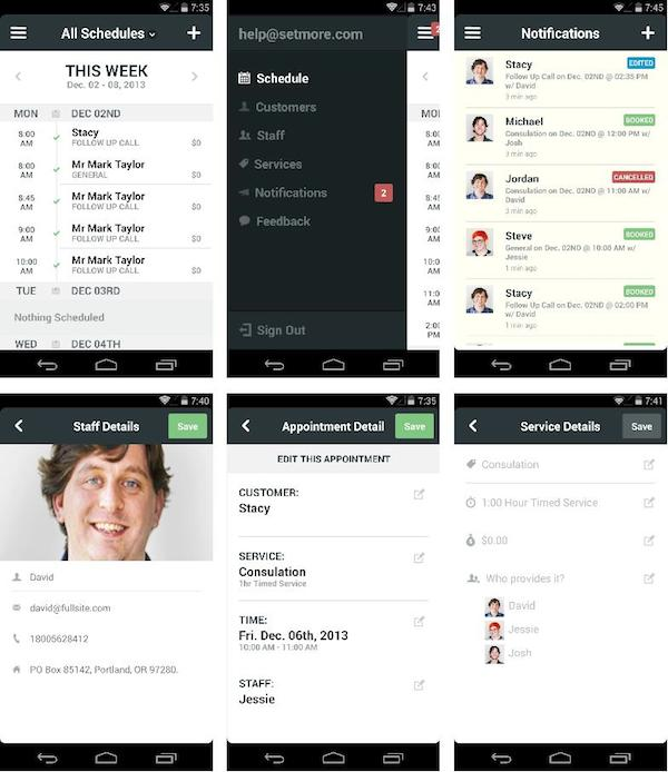 android appointment app