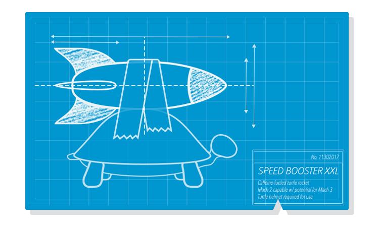 Speed boost illustration