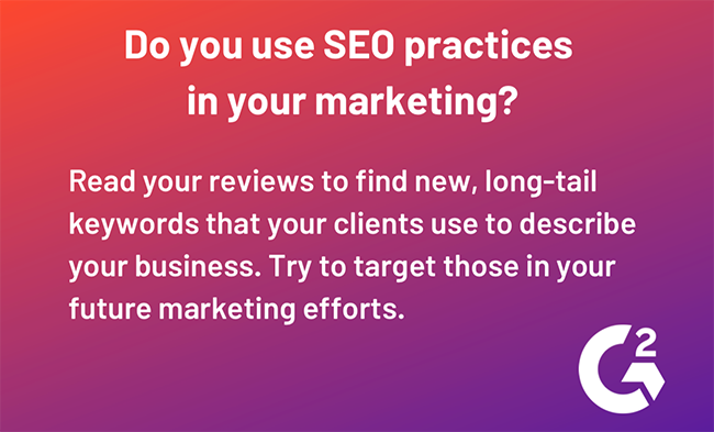 Do you use SEO practices in your marketing?