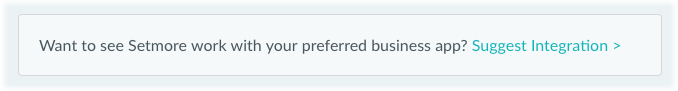 "The ""Suggest an integration"" button."