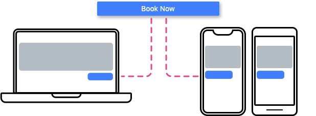 booking page desktop and mobile