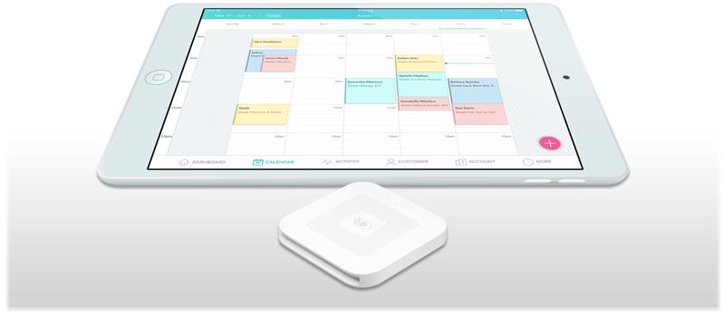 Setmore app on an iPad.