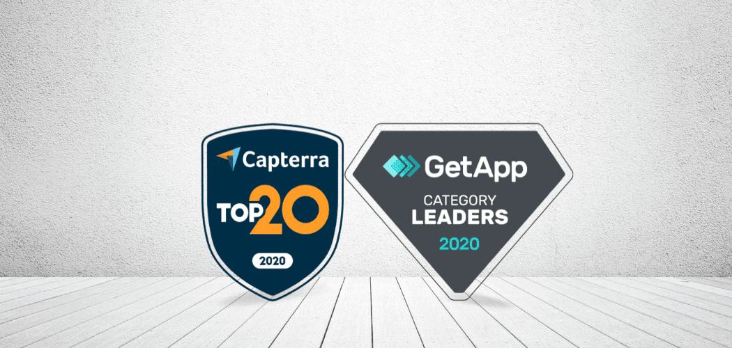 Setmore's badge awards from Capterra and GetApp