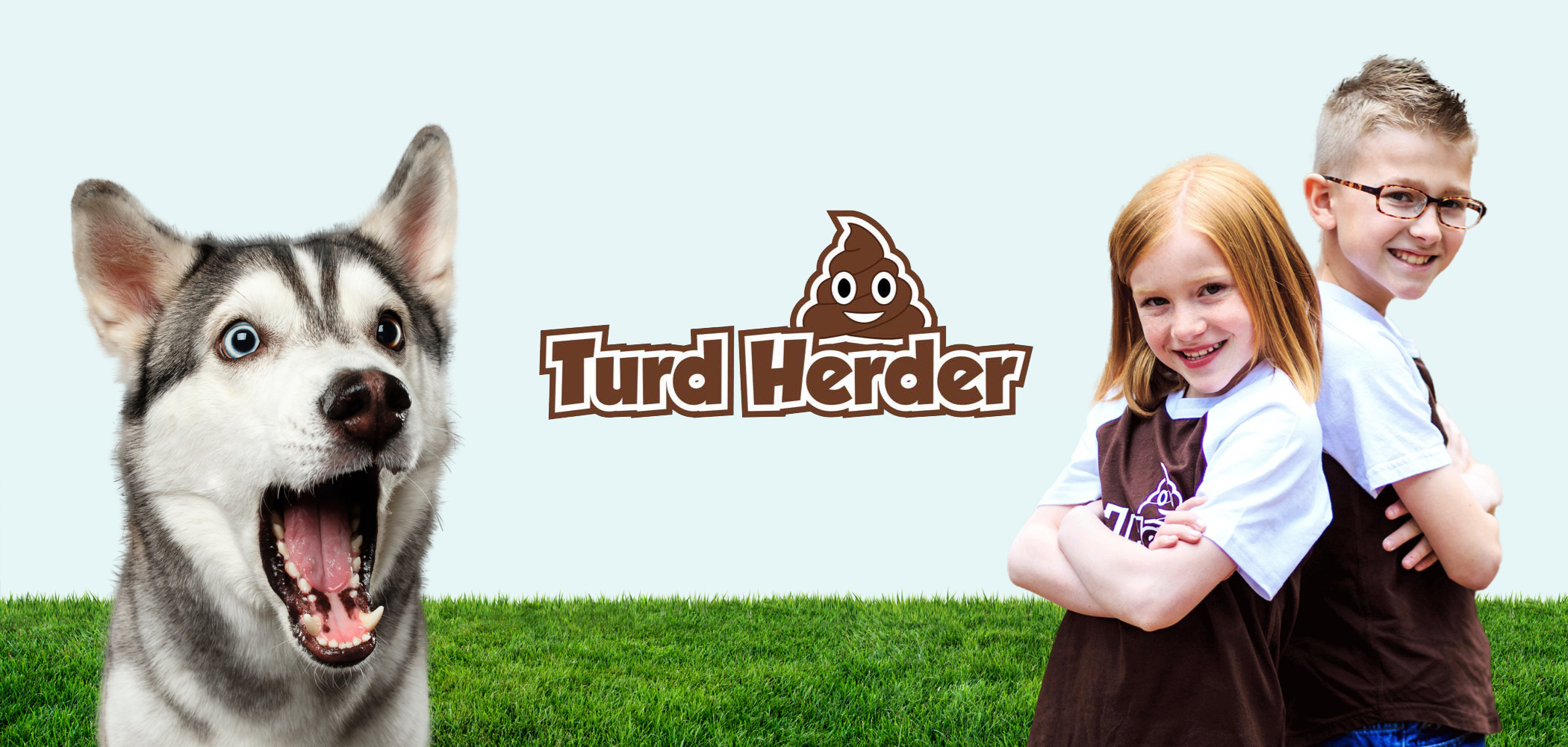 A cover picture of the Turd Herder kids