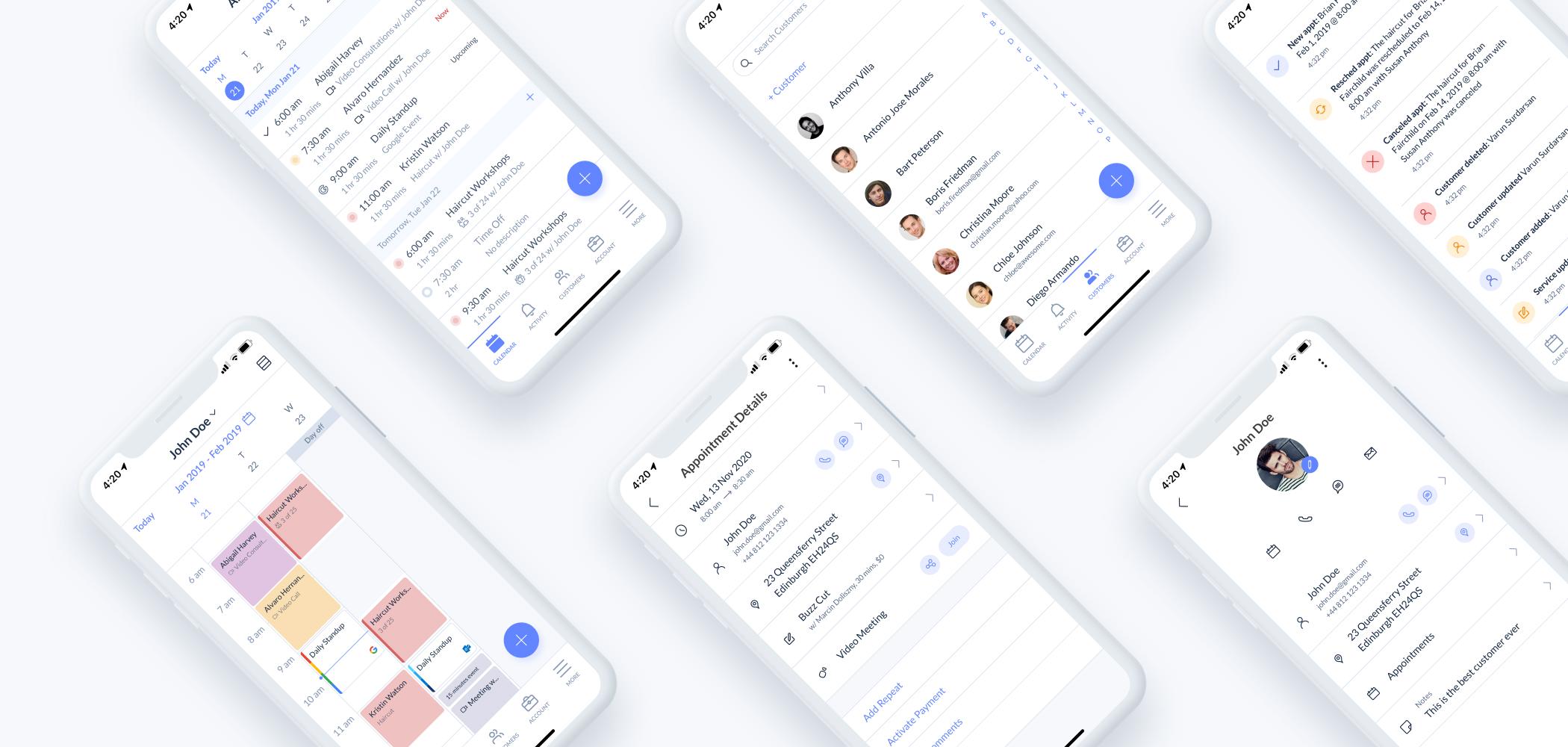 Setmore App Update Visuals November 2020
