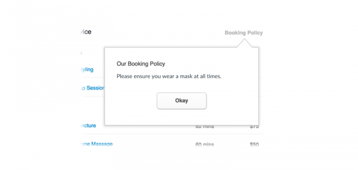 booking rules