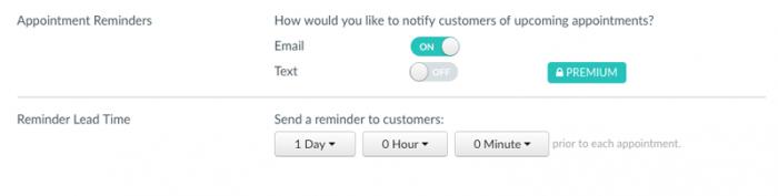reminder settings