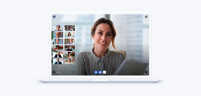 macbook showcasing teleport video call