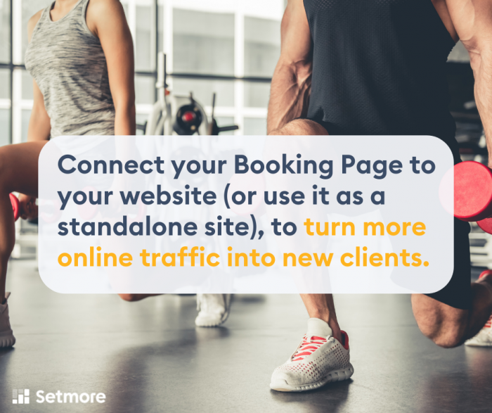 training connect your booking page