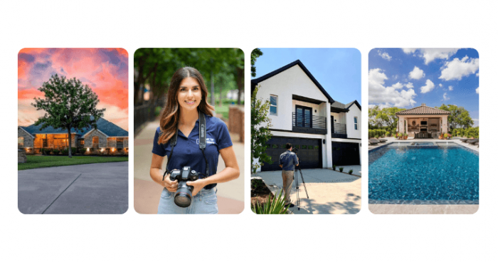 Images of real estate and photographers
