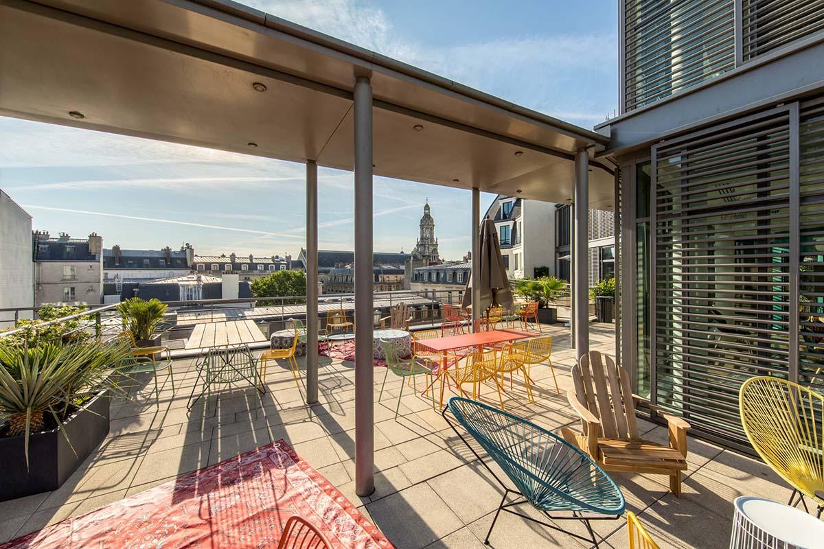 top des bureaux à terrasses