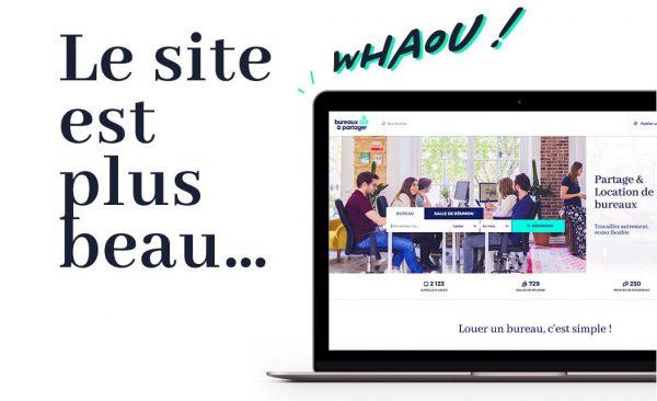 Le nouveau site Bureaux A Partager