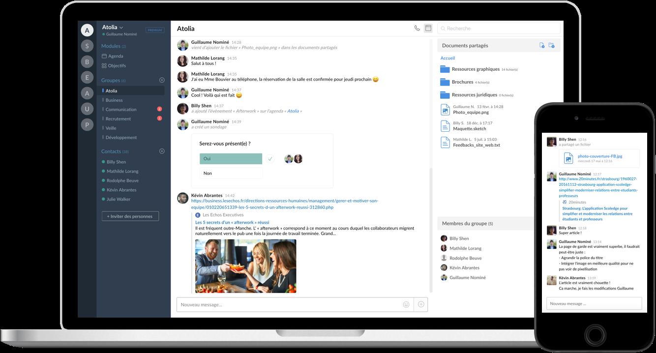 Atolia : une application collaborative qui simplifie le travail à distance