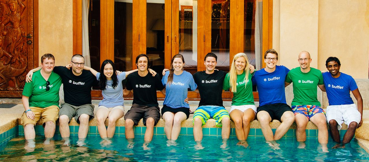 L'équipe Buffer lors d'une retreat
