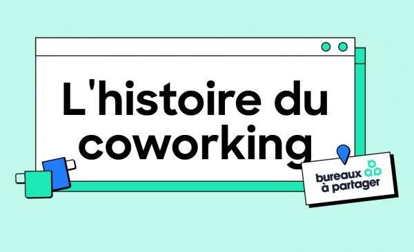 Image d'entête pour l'histoire du coworking illustrée