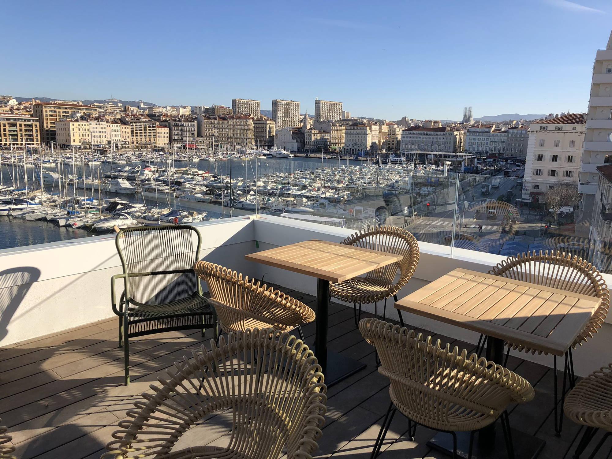 Terrasse vieux port Marseille