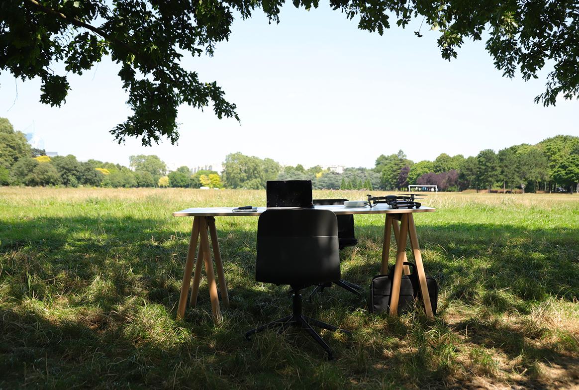 Le bureau en pleine nature
