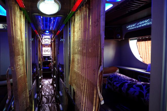 Nội thất xe giường nằm limousine Ngọc Ánh