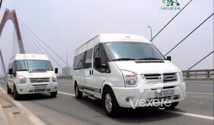 Xe limousine Sapa đi Hà Nội: Green Lion Bus