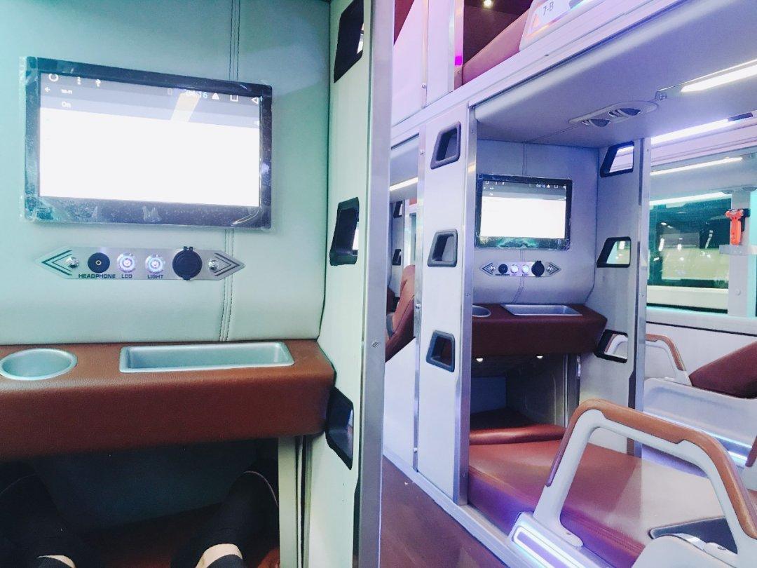 Nội thất xe giường nằm limousine đi Nha Trang - Thanh Thuỷ
