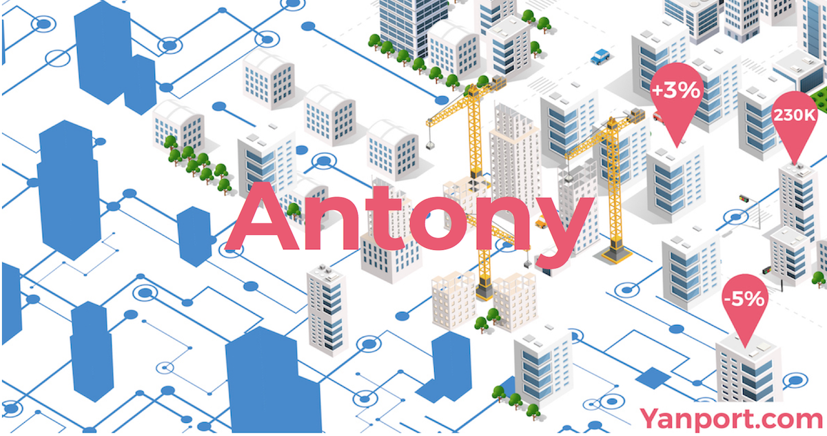 Antony • Les données immobilières pour les professionnels