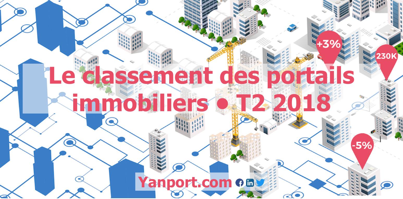 Classement des portails immobiliers • Yanport T2 2018